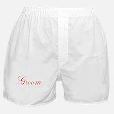 Red Cursive Groom Boxer Shorts