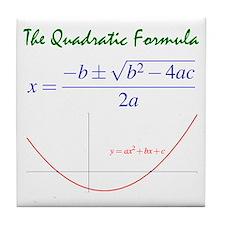 Quadratic Formula Tile Coaster