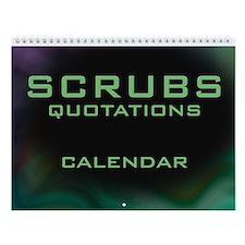 Scrubs TV Show Quotations Wall Calendar
