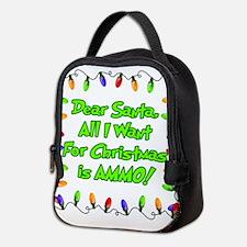 xmas ammo lights1.png Neoprene Lunch Bag