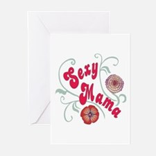 Sexy Mama with Floral design Greeting Cards (Packa