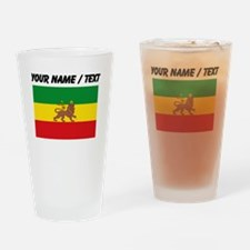 Custom Ethiopian Flag Drinking Glass