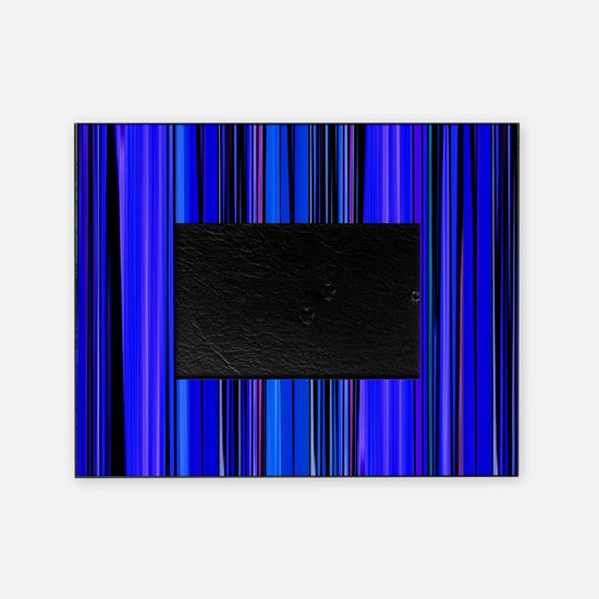 Blue Stripes Picture Frame