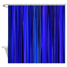 Blue Stripes Shower Curtain For