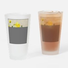 Daffodil Spring Floral Pansy Wateri Drinking Glass