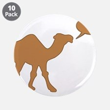 """HUMP DAY HUMP DAY CAMEL 3.5"""" Button (10 pack)"""