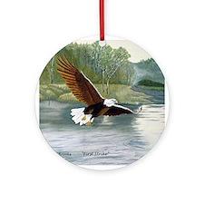 American Bald Eagle Flight Ornament (Round)