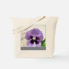 Purple Pansy Scroll Original Watercolor F Tote Bag