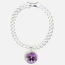 Purple Pansy Scroll Orig Bracelet