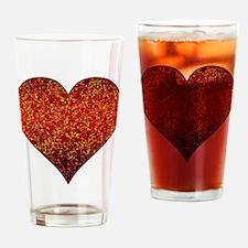 Drinking Glass Heart Glitter 4