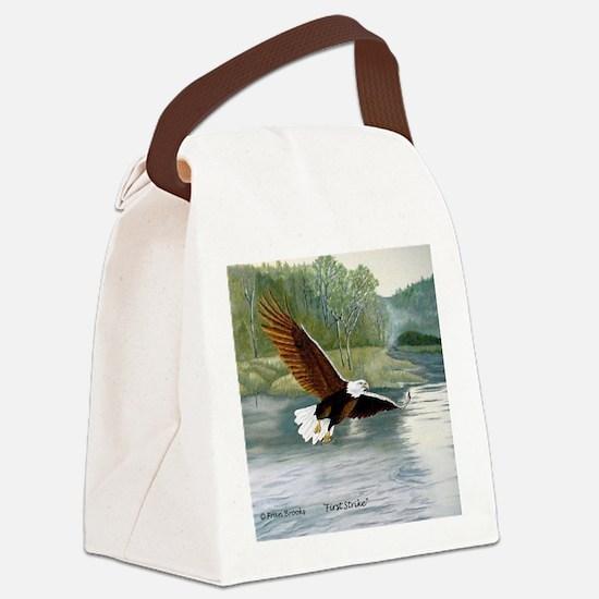 American Bald Eagle Flight Canvas Lunch Bag