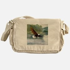 American Bald Eagle Flight Messenger Bag