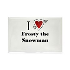 i love Frosty the Snowman Christmas x-mas Magnets