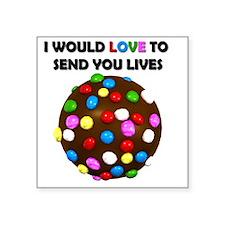 "Candy crush Square Sticker 3"" x 3"""