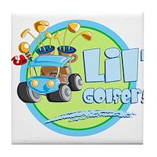 Lil' Golfer! Tile Coaster