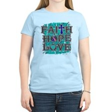 Thyroid Cancer Faith Hope Love T-Shirt