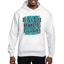 Thyroid Cancer Faith Hope Love Hoodie