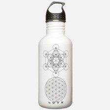 Sacred Geometry Love Water Bottle