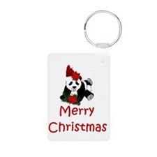 merry christmas panda.png Keychains