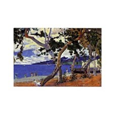 Gauguin - Coastal Landscape from  Rectangle Magnet