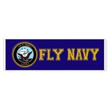 Fly Navy Bumper Car Sticker