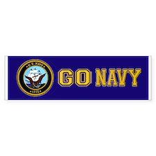 Go Navy Bumper Bumper Sticker