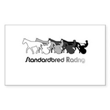 Racing Silhouette Rectangle Decal