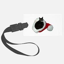 Cat Santa Hat Luggage Tag