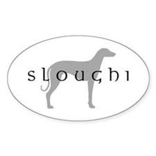 Sloughi Dog Breed Oval Decal