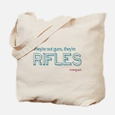Color Guard Rifles Tote Bag