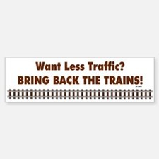 Bring Back Trains Bumper Car Car Sticker