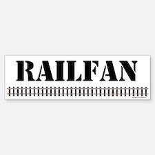 RAILFAN Track Bumper Bumper Bumper Sticker