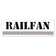 RAILFAN Track Bumper Bumper Sticker