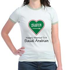 Happily Married Saudi Arabian Jr. Ringer T-Shirt