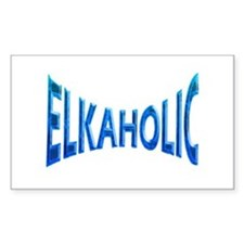 Elkaholic Blue mist Rectangle Decal
