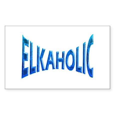Elkaholic Blue mist Rectangle Sticker