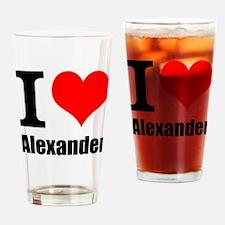 I Heart Alexander Drinking Glass