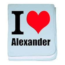 I Heart Alexander baby blanket