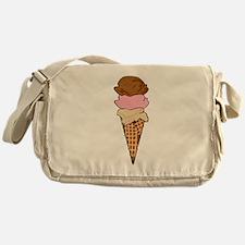 Three Scoop Ice Cream Cone Messenger Bag