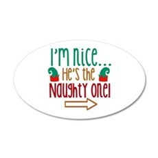 Im Nice Hes Naughty Elf Hat Wall Decal