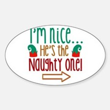 Im Nice Hes Naughty Elf Hat Decal