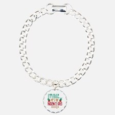 Im Nice Hes Naughty Elf Hat Charm Bracelet, One Ch