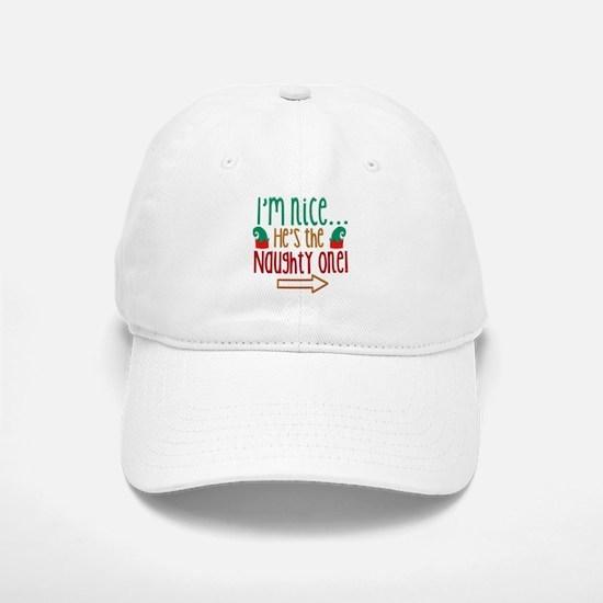Im Nice Hes Naughty Elf Hat Baseball Baseball Cap