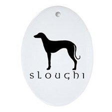sloughi dog Oval Ornament