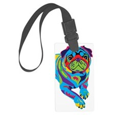 Rainbow Pug Luggage Tag