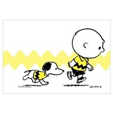 Charlie Brown And Snoopy - Classic Wall Art Framed Print