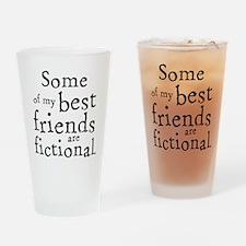 Fictional Friends Drinking Glass