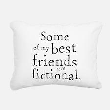 Fictional Friends Rectangular Canvas Pillow