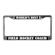 Field Hockey Coach License Plate Frame