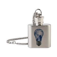 Lightbulb Globe Flask Necklace